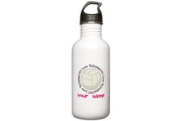 Personalized Volleyball Stainless Water Bottle 1.0