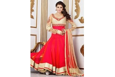 Amazing floor length net Anarkali suit