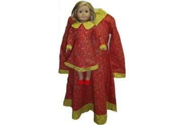 Girls amp Dolls Size 7 Matching Red Dress