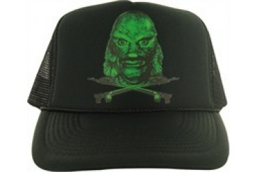 Creature from the Black Lagoon Head Printed Snap Closure Mesh Trucker Hat 6dd2dbf6c494