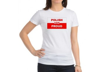 Polish And Proud Ethnicity Jr. Jersey T-Shirt by CafePress