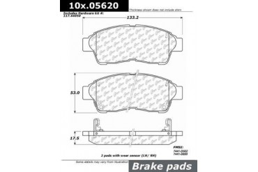 1996-2003 Toyota RAV4 Brake Pad Set Centric Toyota Brake Pad Set 100.05620 96 97 98 99 00 01 02 03