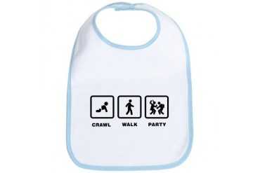 Partying Funny Bib by CafePress