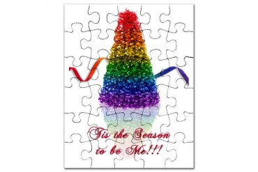 gay pride tree Gay pride Puzzle by CafePress
