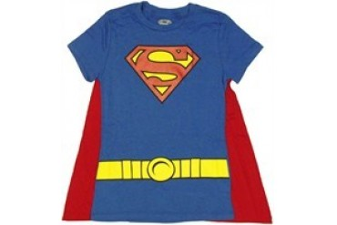 DC Comics Superman Supergirl Suit with Cape Baby Doll Tee