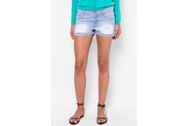 Catwalk88 Bleached Denim Shorts