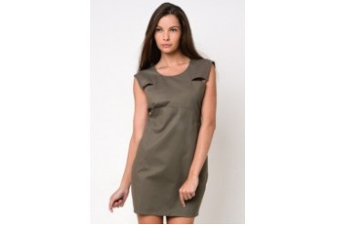 Shift Dress with Cut-out