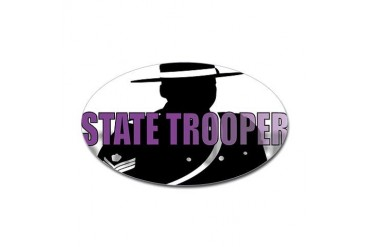 TROOPERS Funny Sticker Oval by CafePress