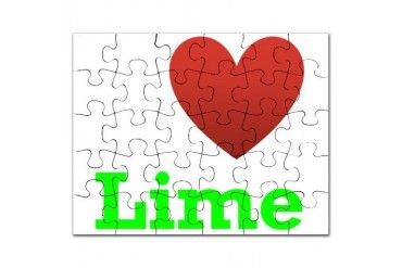 i-love-lime-dark-tee.png Humor Puzzle by CafePress