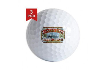 Cunard Line 1875 New york Golf Balls by CafePress