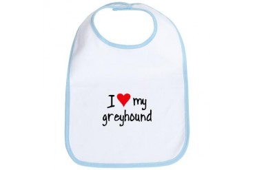 I LOVE MY Greyhound Pets Bib by CafePress
