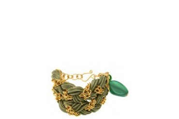 Thick Chained Braided Bracelet