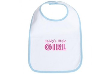 Daddy's Little Girl Baby Bib by CafePress