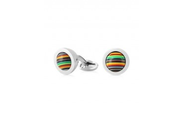Signature Stripe Rolling Ball Men's Cufflinks
