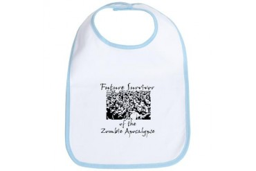 future survivor.png Zombie Bib by CafePress