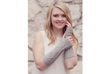 Warm amp Bright Arm Warmers - Knitted Fingerless Gloves
