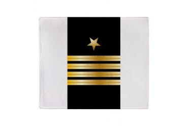 USN Captain SRI Stadium Blanket Navy Throw Blanket by CafePress