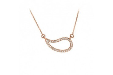 Cubic Zirconia Geometric Necklace 14K Rose Gold Vermeil