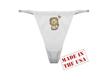 lion and butterfly png.png Animals Classic Thong by CafePress