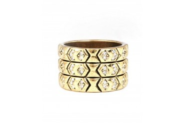House of Harlow 'Echo' Crest Ring Gold, 7