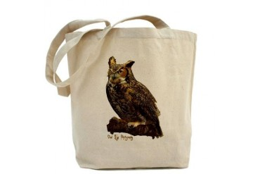 Big Ol' Hooty Owl Baseball Tote Bag by CafePress