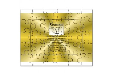 Gemini Zodiac Star Sign Birthday Puzzle by CafePress
