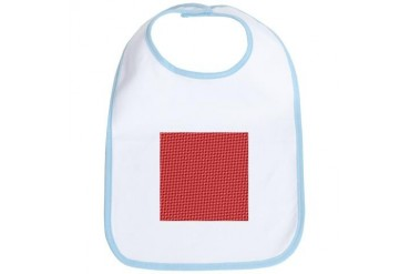 Red Christmas Pattern Holiday Bib by CafePress