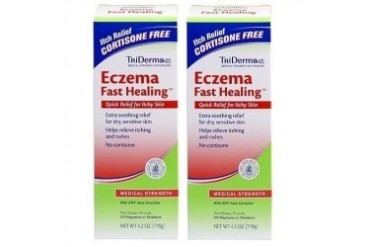 TriDerma Eczema Fast Healing Cream 2 Tube Pack