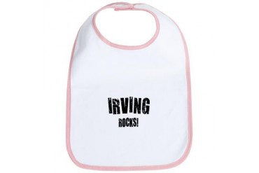 Irving Rocks Texas Bib by CafePress