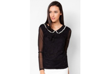 VnJ Long Sleeves Blouse With Embellishment At The Collar