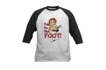Talk to the Foot Kids Baseball Jersey