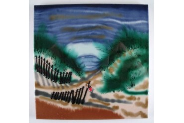 Atlantic Ocean Beach Sand Dunes Ceramic Tile Art