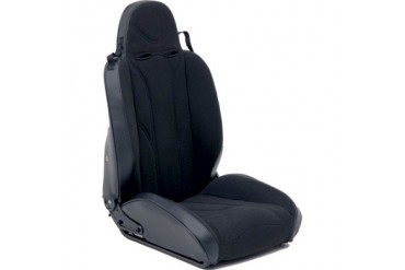 Smittybilt XRC Racing Style Recliner Seat - Black on Black 750115 Seat