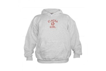 Elmira Pink Girl New york Kids Hoodie by CafePress