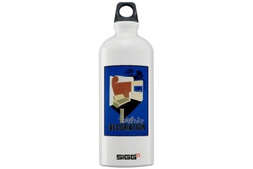 wpa 361.jpg Vintage Sigg Water Bottle 1.0L by CafePress