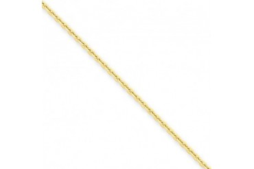 1.65mm, 14 Karat Yellow Gold, Diamond-Cut Cable Chain - 24 inch