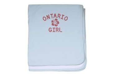 Ontario Pink Girl California baby blanket by CafePress