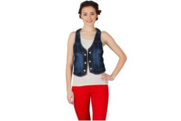 Cosmopolite Blue Jeans Wash With Button Vest