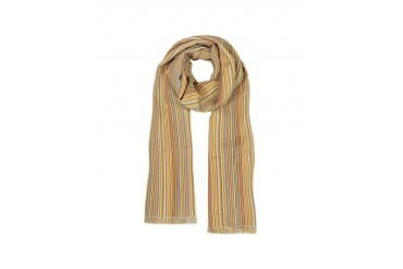 Fine Wool Signature Stripe Scarf