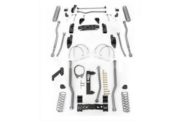Rubicon Express 4.5 Inch Extreme Duty 4-Link Front/Rear 3-Link Long Arm Lift Kit - No Shocks JK4344 Complete Suspension Systems and Lift Kits