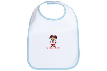 My daddy is a Coastie. Military Bib by CafePress
