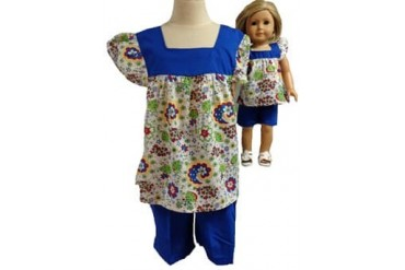 Matching Girl and Dolls Colorful Shorts Size 6