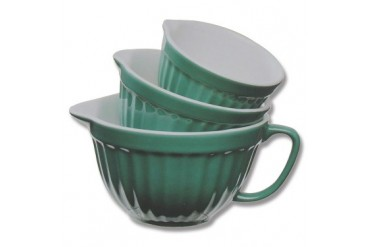 Cypress Home Ceramic Nested Measuring Cups - Teal