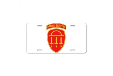 GSDF logo State Aluminum License Plate by CafePress