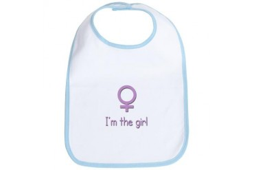 I'm the girl twin Baby Bib by CafePress
