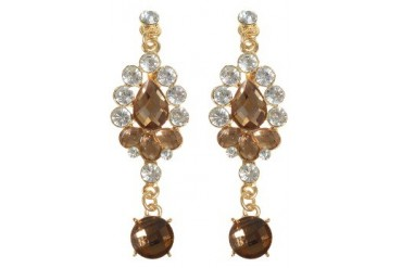 Brown Drop Earrings