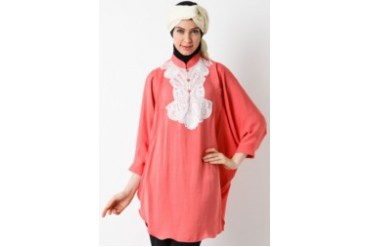 Sofie Design Blouse Aplikasi Bordir Carnation Pink