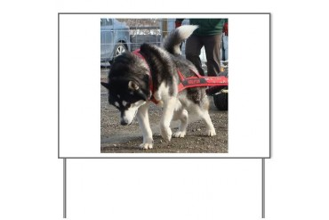 Alaskan Malamute Power Dog Yard Sign by CafePress