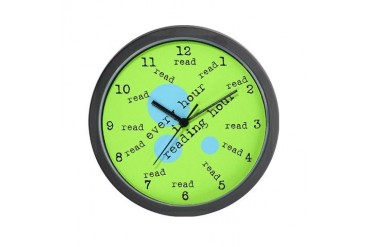 Every hour is reading hour Wall Clock