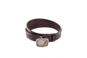 Polo Embossed Trim Leather Belt